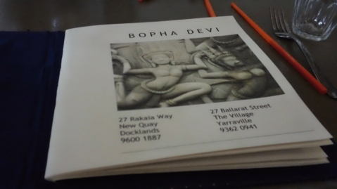 Bopha Devi menu inside