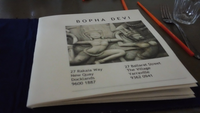 Bopha Devi menu inside