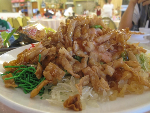 Traditional new year's dish Yu Shang