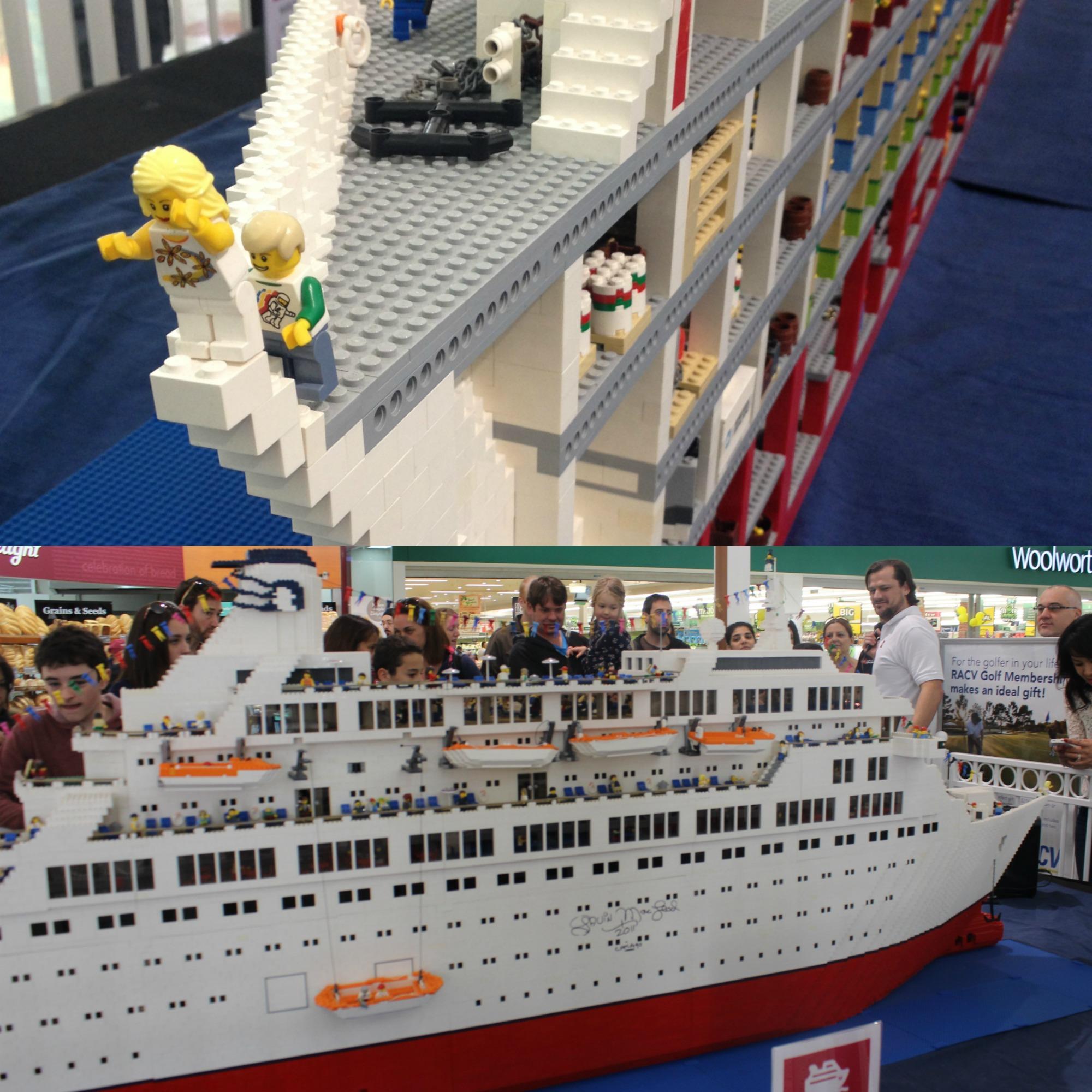 how to build a mini lego cruise ship