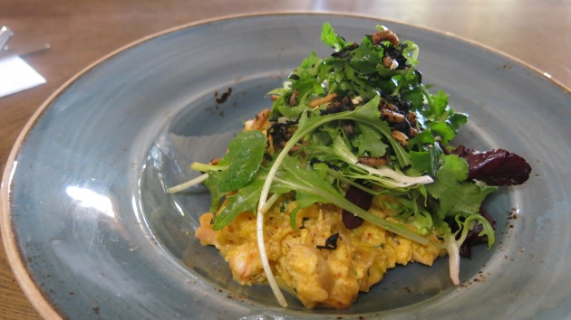 Seafood omelette with kim chi St Ali's