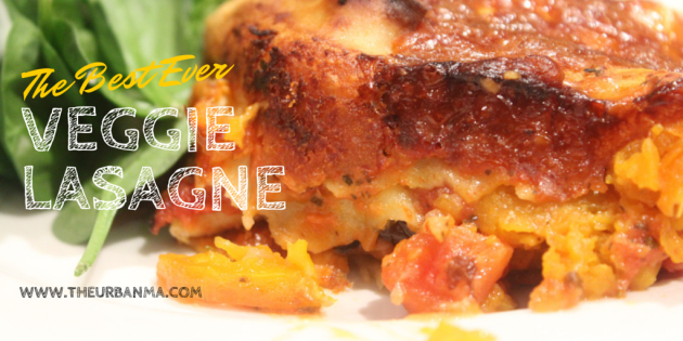 Best ever veggie lasagne The Urban Ma