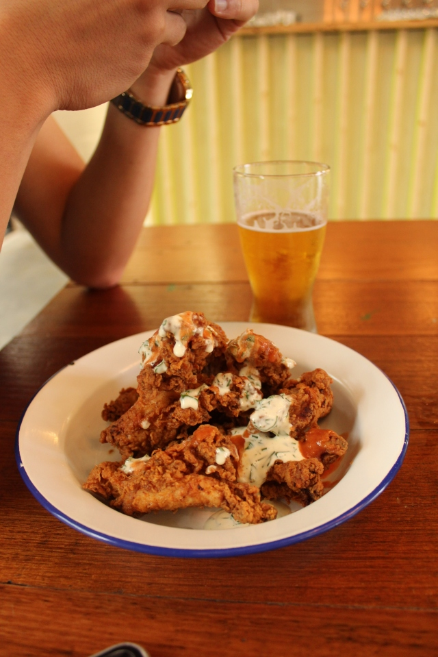 Fried chicken with hot sauce The Urban Ma Rockwell and Sons