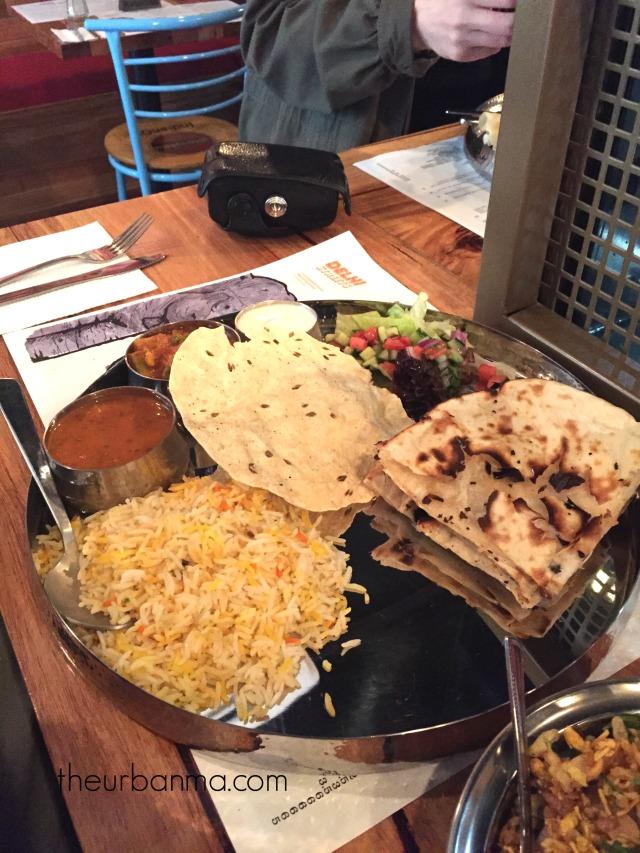 Delhi Streets Vegetarian thali