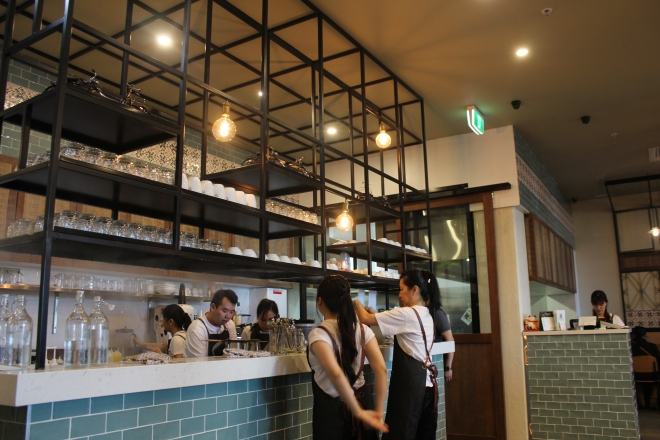 Makan place interior kitchen